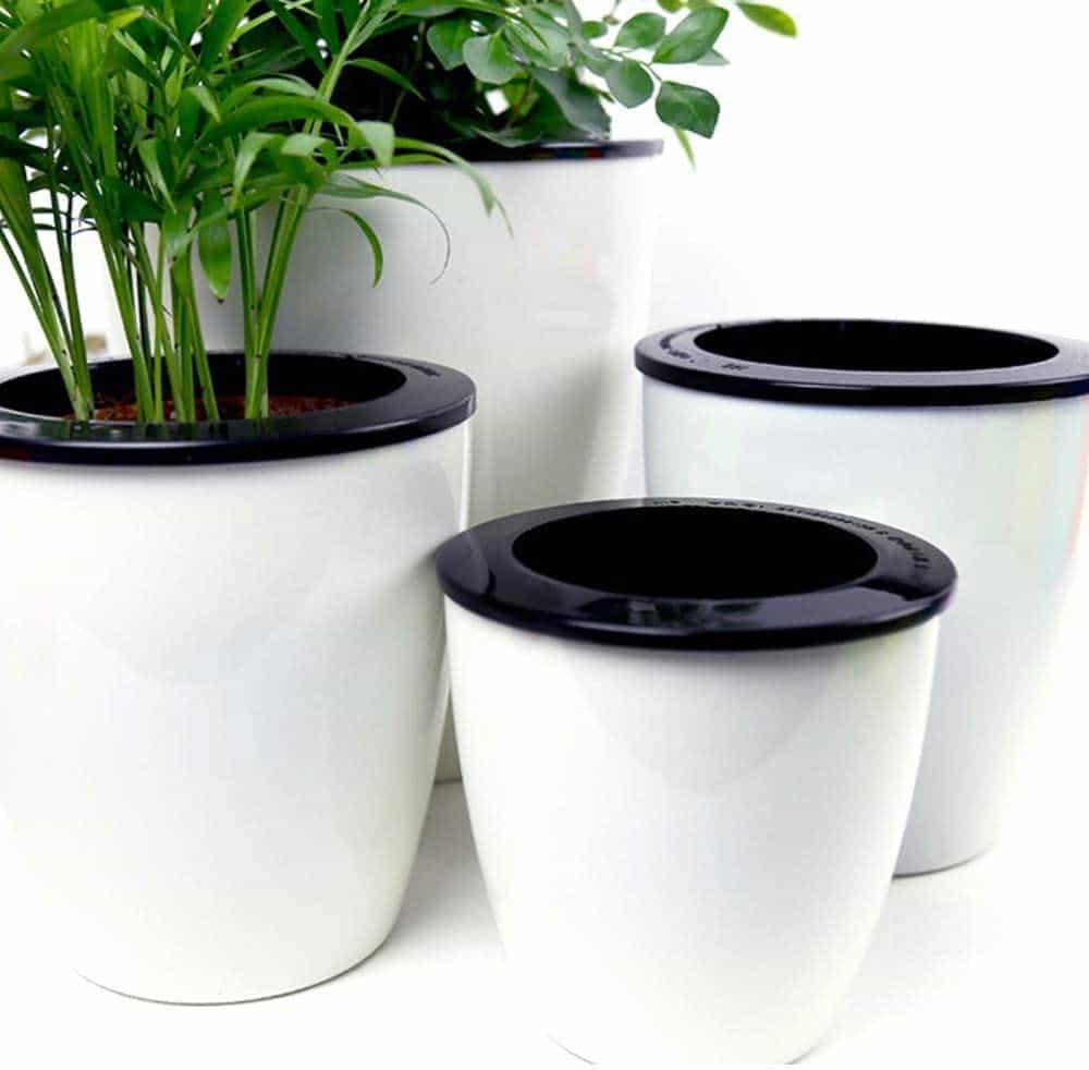 Mkono 3 Pack Self Watering Plastic Planter